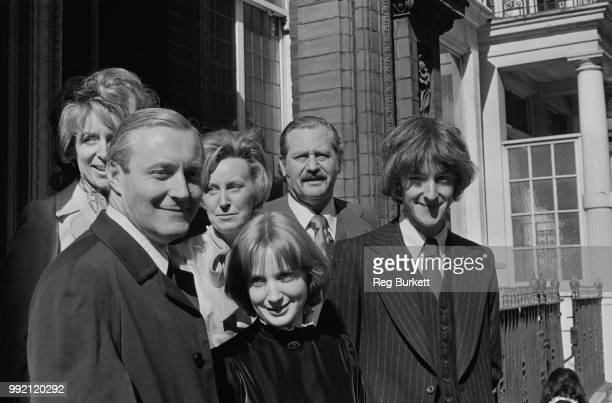British Labour Party MP Tony Benn 91925 2014 at the wedding of his son Hilary and Rosalind Retey at Kensington Registry Office London 7th April 1973