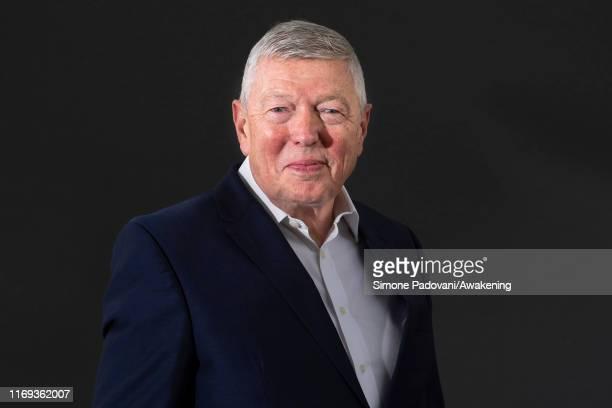 British Labour Party politician Alan Johnson attends a photo call during Edinburgh International Book Festival 2019 on August 21 2019 in Edinburgh...