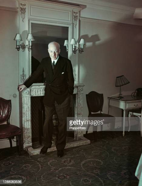 British Labour party politician and economist Hugh Dalton , former Chancellor of the Exchequer, posed in London in February 1948.