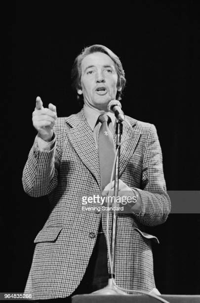 British Labour Party politician and Member of Parlaiment for Bolsover Dennis Skinner talking at the Labour Party Conference Blackpool UK 3rd October...