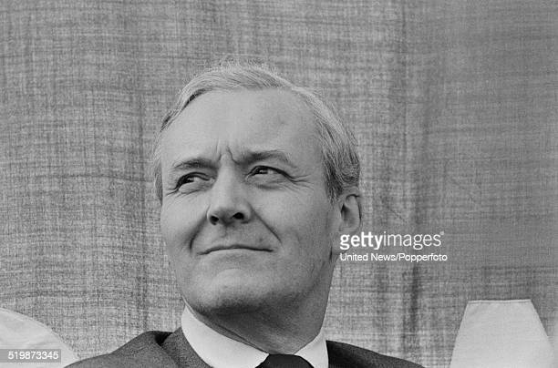 British Labour Party politician and Member of Parliament for Bristol South East Tony Benn views a crowd of protesters in Hyde Park London following a...