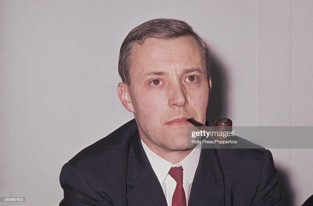 British Labour Party politician and Minister of Technology, Tony Benn (1925-2014) pictured smoking a pipe at the Labour Party annual conference in Brighton on 5th October 1966.