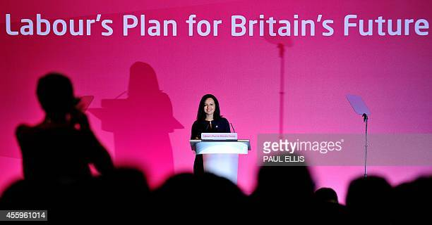 British Labour Party politician and Shadow Secretary of State for Energy and Climate Change Caroline Flint speaks in Manchester on September 23 2014...