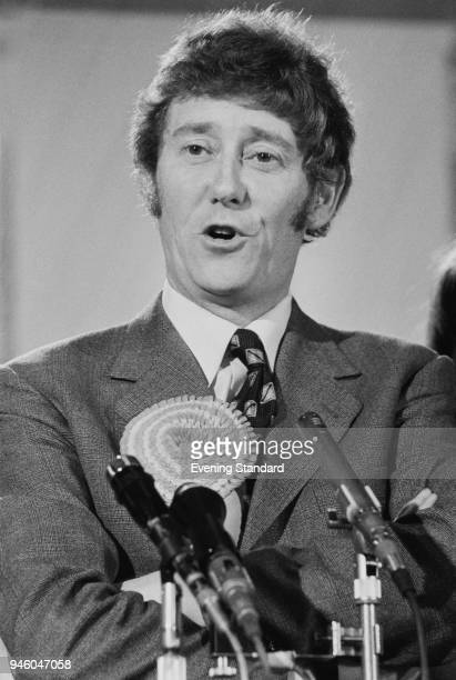 British Labour Party politician Austin Mitchell elected Member of Parliament for Great Grimsby, UK, 29th April 1977.