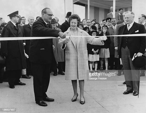 British Labour Party politician Barbara Castle the Minister of State for Transport at Mill Hill in London to open the Hendon Urban Motorway which...