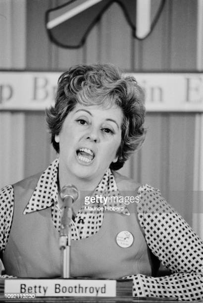 British Labour Party politician Betty Boothroyd UK 30th May 1975