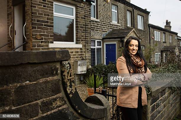 British Labour Party politician elected as the Member of Parliament for the constituency of Bradford West Naz Shah is photographed at her home on...