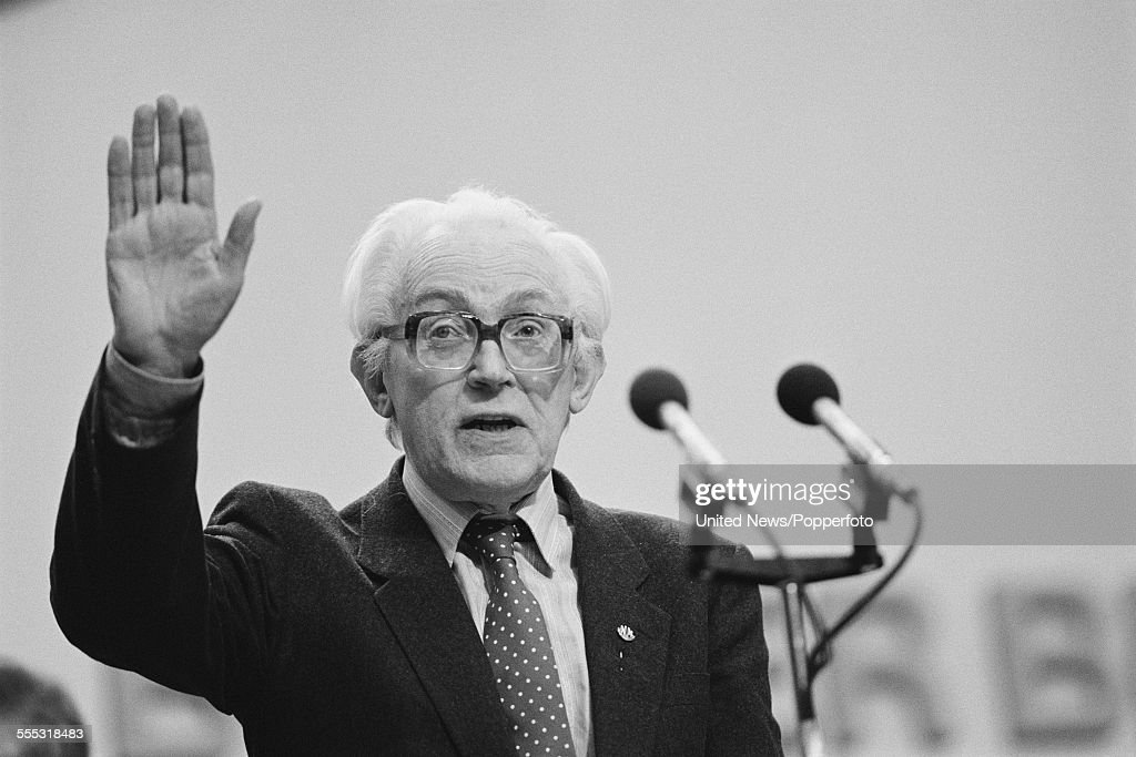 Michael Foot At Labour Party Conference : News Photo