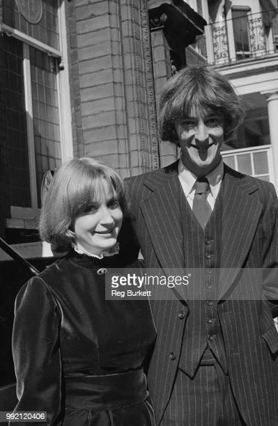 British Labour Party politician Hilary Benn and Rosalind Retey at Kensington Registry Office on their wedding day London UK 7th April 1973