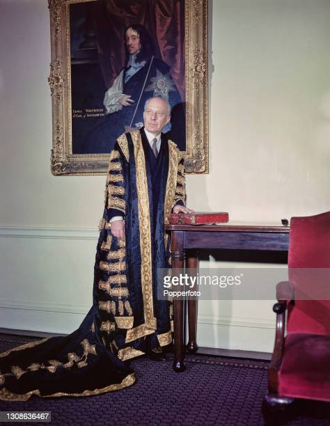 British Labour Party politician Hugh Dalton , recently appointed Chancellor of the Exchequer in Clement Attlee's post-war government, pictured...