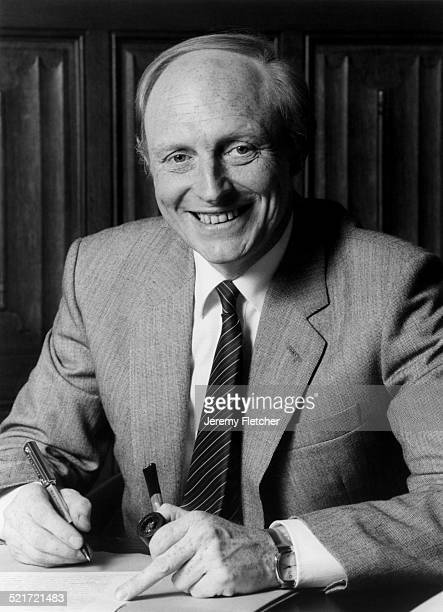 British Labour party politician Neil Kinnock at the Leader of the Opposition office House of Commons London 1983