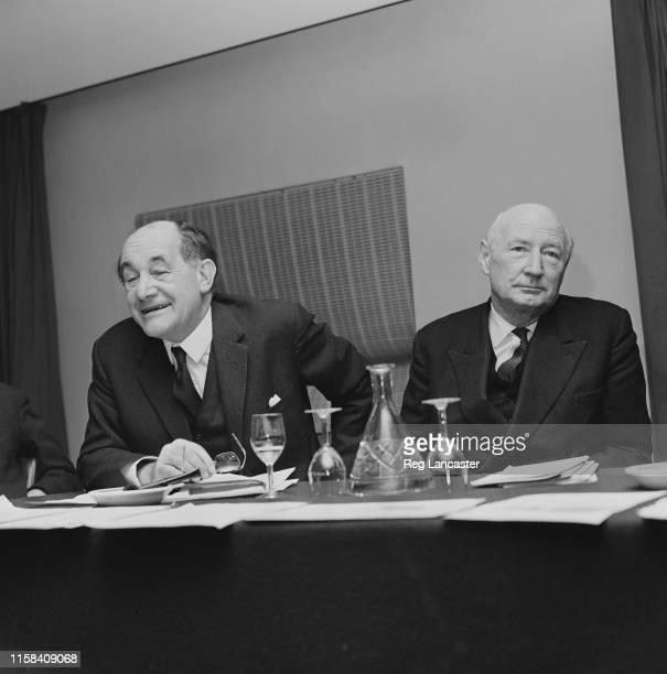 British Labour Party politician Patrick Gordon Walker and British businessman civil servant publisher politician and spelling reformer James Pitman...