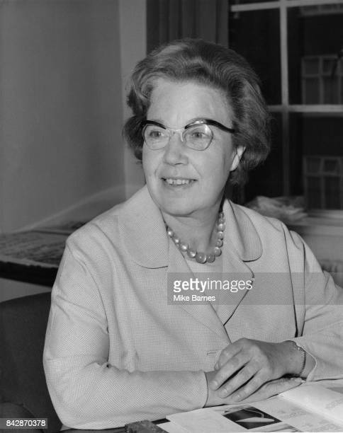 British Labour politician Alice Bacon the new Minister of State at the Department of Education and Science at her office in Curzon Street London 7th...