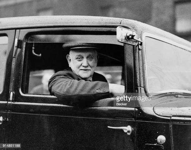British Labour politician and social reformer George Lansbury the MP for Bow and Bromley leaves his home in Bow Road London for Berlin for a meeting...