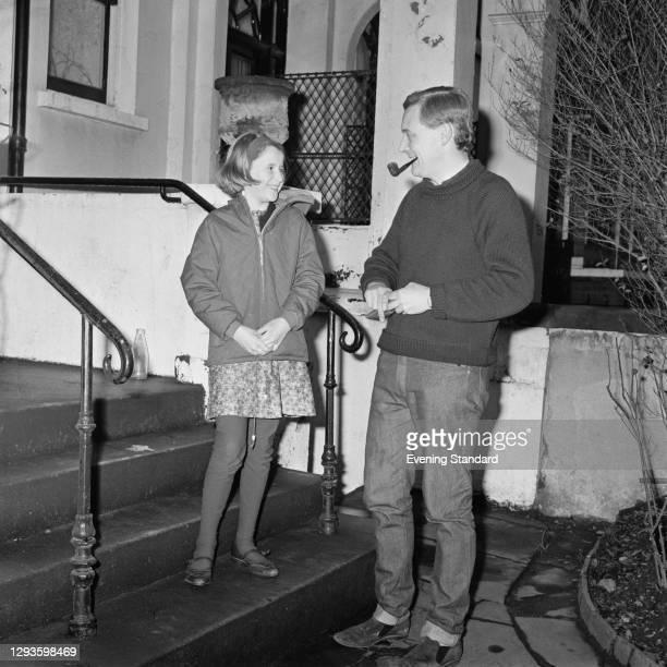 British Labour politician Anthony Wedgwood Benn , aka Tony Benn, with his daughter Melissa, UK, January 1967.