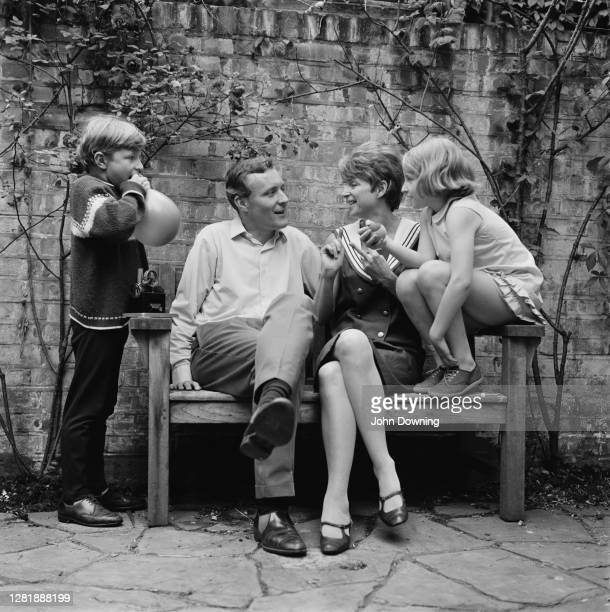 British Labour politician Anthony Wedgwood Benn at home with his wife Caroline son Joshua and daughter Melissa UK 3rd July 1966