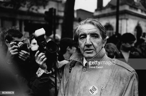 British labour politician Dennis Skinner at a demonstration in London in support of the miners October 1992