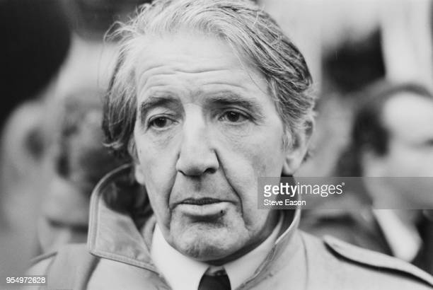 British Labour politician Dennis Skinner at a miners' rally in London October 1992