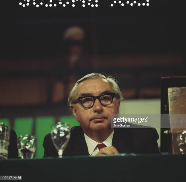 British Labour politician George Brown the Deputy Leader of the Labour Party at the Labour Party Conference in Brighton UK October 1969