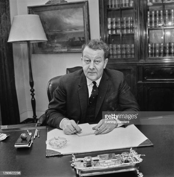 British Labour politician J. P. W. Mallalieu , the new Minister of Defence for the Royal Navy, UK, 21st February 1966.