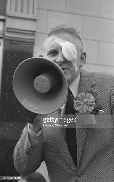 British Labour politician John Fraser , the MP for Norwood, campaigning during the UK general election, UK, 16th February 1974.