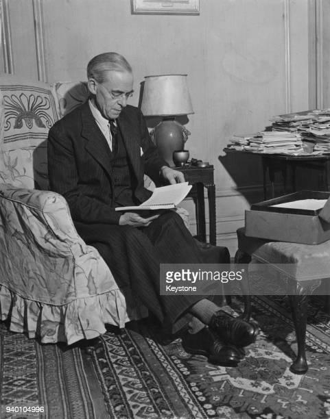 British Labour politician Sir Stafford Cripps circa 1947