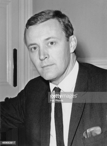 British Labour politician Tony Benn in his office on his first day in his new cabinet role of Postmaster General London 20th October 1964