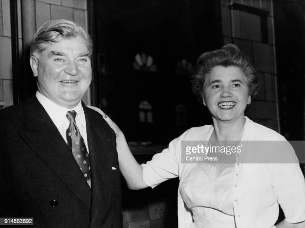 British Labour politicians Aneurin Bevan and his wife Jennie Lee at the Labour Party Conference in Blackpool UK 2nd October 1956