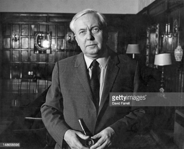 British Labour Prime Minister Harold Wilson at Chequers, the PM's country residence in Buckinghamshire, circa 1975.