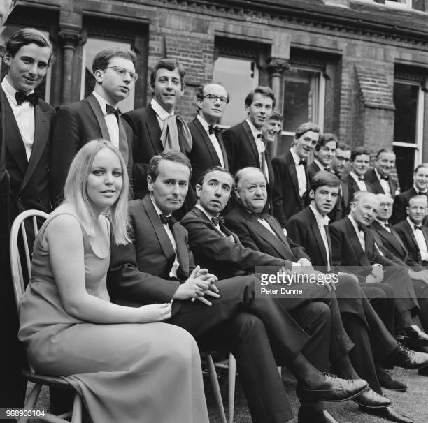 British lawyer and Labour Party politician Ann Mallalieu with fellow students of the Cambridge Society of which she is the first woman president UK...