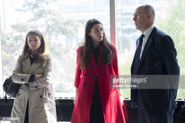 British lawyers speak as they arrive at the court room at the tribunal de Nanterre on the day of the opening at the trial related to the paparazzi...