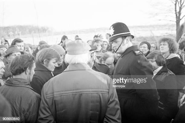 British Leyland Strike Picket Scenes Longbridge Birmingham 8th February 1979