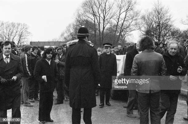 British Leyland Strike Picket Scenes Longbridge Birmingham 9th February 1979
