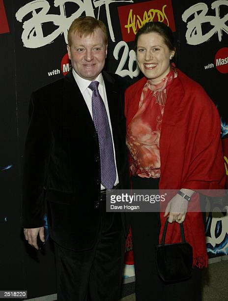 British Liberal Democrat politician Charles Kennedy and wife at the 2003 Brit Awards Show at Earls Court 0n February 20 2003 in London
