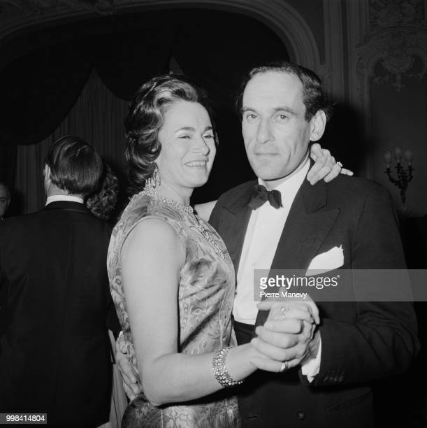 British Liberal Party politician and leader of the Liberal Party Jeremy Thorpe pictured dancing with his wife Marion Stein at the Savoy Hotel in...