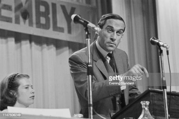 British Liberal Party politician Jeremy Thorpe talking at the Liberal Party annual conference in Brighton, UK, 20th September 1969.