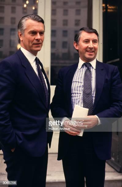 British Liberal politician David Steel and Social Democratic Party politician David Owen