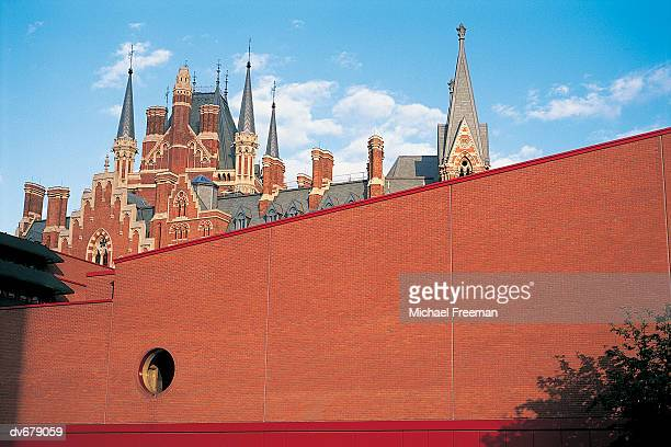 British Library and St Pancras, London, England