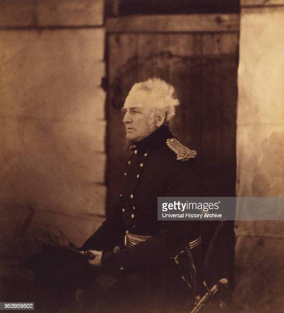 British LieutenantGeneral Sir George Brown ThreeQuarter length Seated Portrait Wearing Uniform Crimean War Crimea Ukraine by Roger Fenton 1855