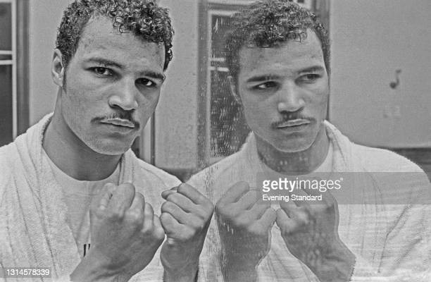 British light-heavyweight boxer John Conteh, UK, 12th January 1974.