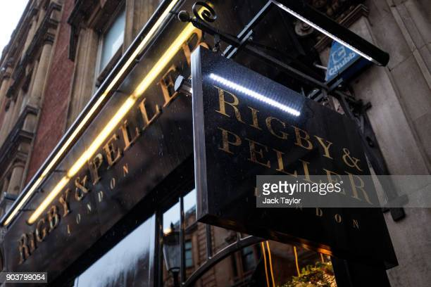 British lingerie retailer Rigby Peller stands on Hans Road in Knightsbridge on January 11 2018 in London England The company which has supplied...