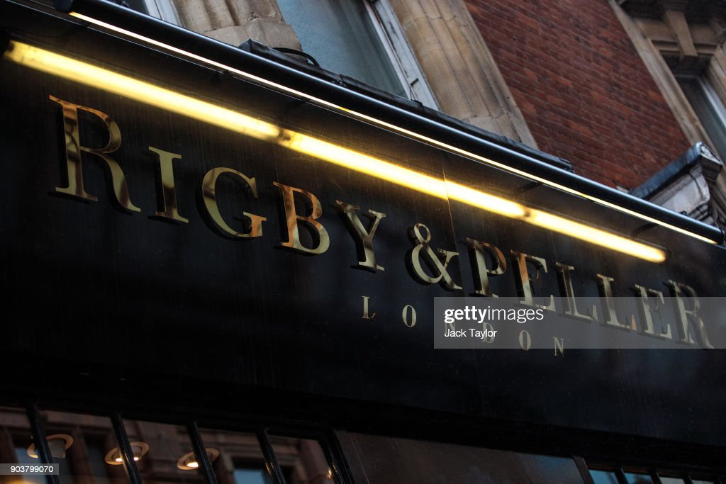 British lingerie retailer Rigby & Peller stands on Hans Road in Knightsbridge on January 11, 2018 in London, England. The company which has supplied underwear to the Queen has had its royal warrant removed after the firm's former owner June Kenton wrote a book about her work.