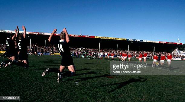 British Lions Tour to New Zealand New Zealand v British Lions The Lions face up to the New Zealand haka at Wellington prior to the 2nd test