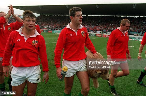 British Lions Tour to New ZealandNew Zealand v British Lions Gavin Hastings and his Lions team mates leave the field following their final test match...