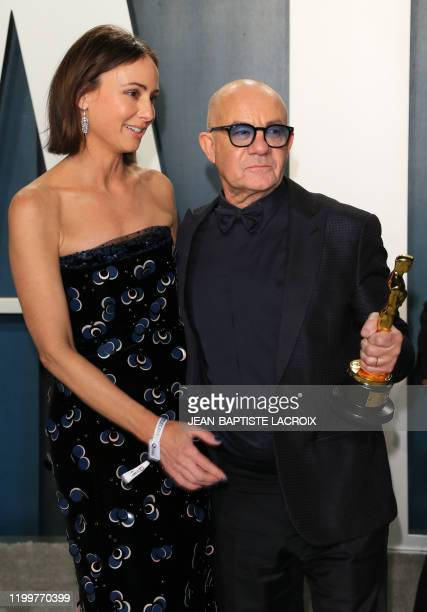 British lyricist Bernie Taupin and his wife Heather Lynn Hodgins Kidd attend the 2020 Vanity Fair Oscar Party following the 92nd Oscars at The Wallis...