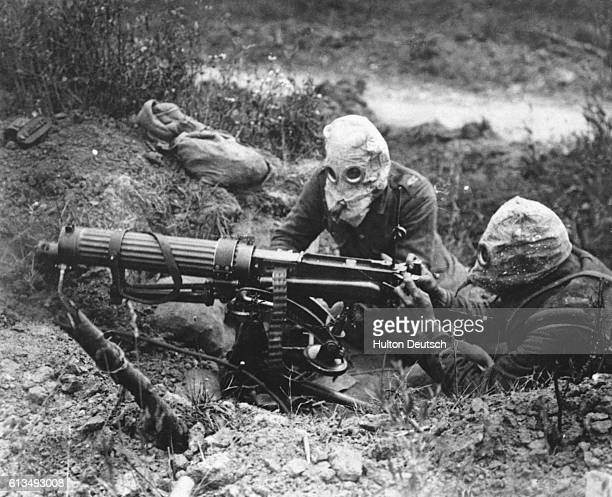 British machine gunners firing during the Battle of the Somme The battle was costly in terms of casualties particularly for the British army some...