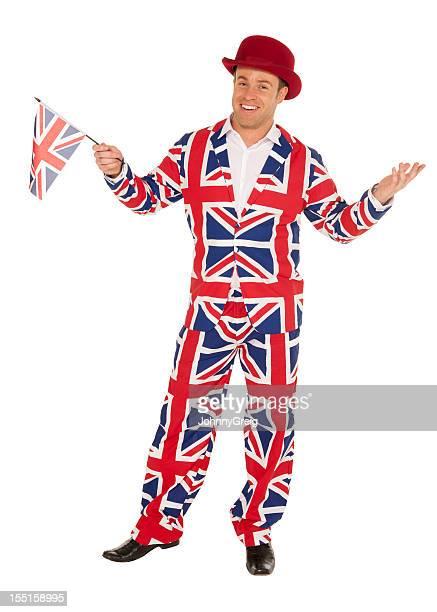 Homme de Britannique Union Jack Costume