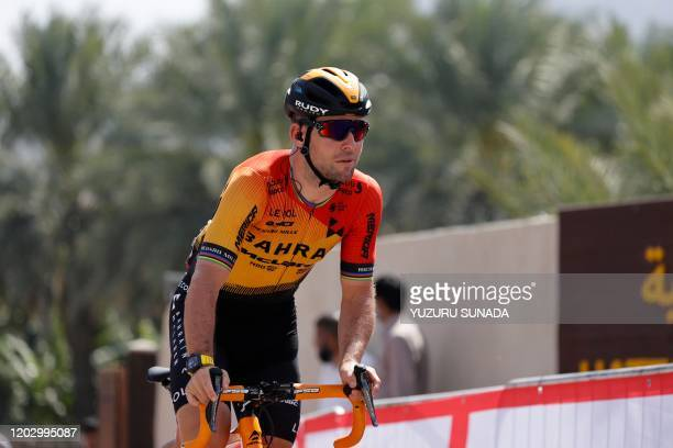 British Mark Cavendish of Bahrain-Merida pictured at stage 2 of the 'UAE Tour' 2020 cycling race 168km from Hatta to Hatta Dam in Dubai, United Arab...