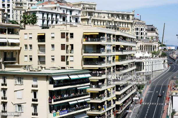 British McLaren Formula One driver Lewis Hamilton driving his McLaren MP4-22 car during the 2007 Monaco Grand Prix held on the 27 May 2007.