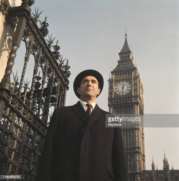 British media mogul Robert Maxwell arrives at the Houses of Parliament in London to take up his seat after being elected MP for Buckingham 1964